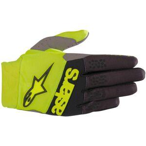 Alpinestars Racefend MX Textile Gloves Black Yellow 2XL