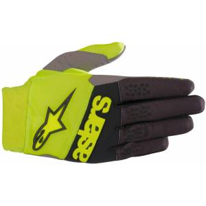 Alpinestars Racefend MX Textile Gloves Black Yellow 2XL