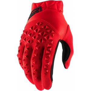 100% Airmatic Gloves Black Red L