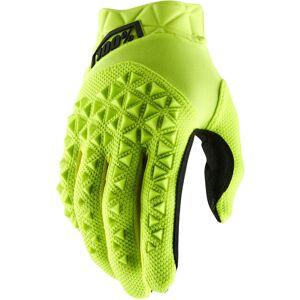 100% Airmatic Gloves Black Yellow XL