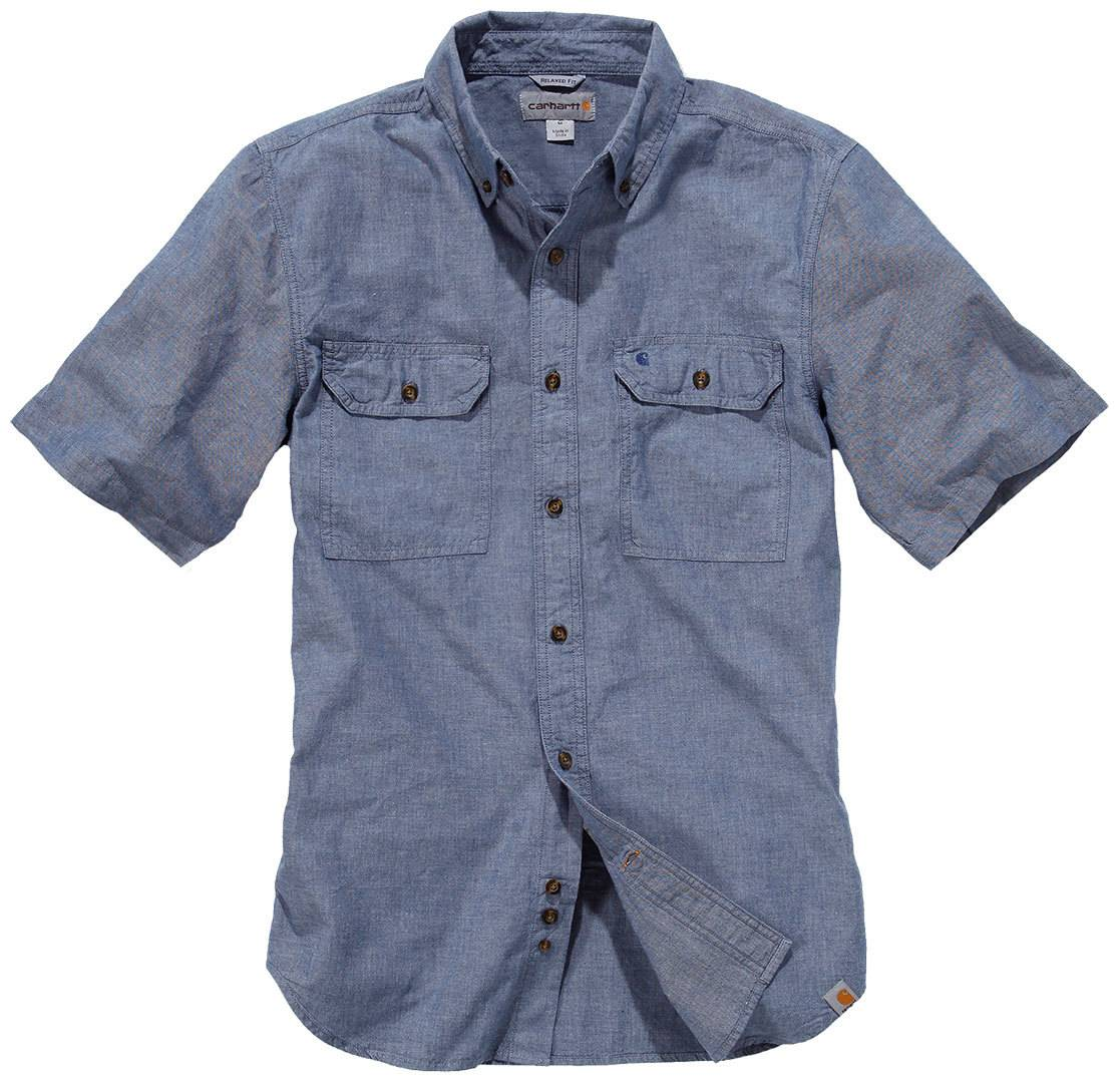 Carhartt Fort Solid Short Sleeve Shirt Blue XL