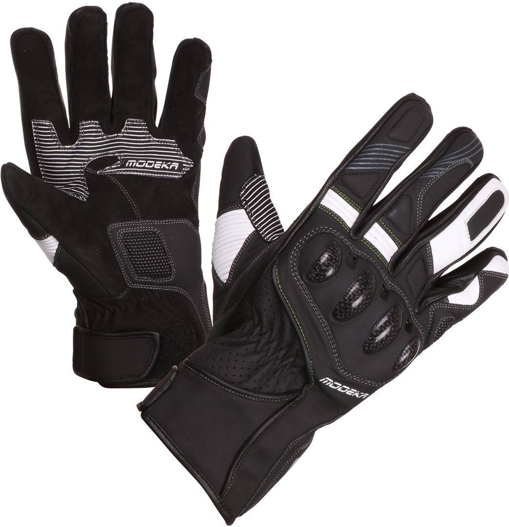 Modeka Challenge S Motorcycle Gloves Black White M L