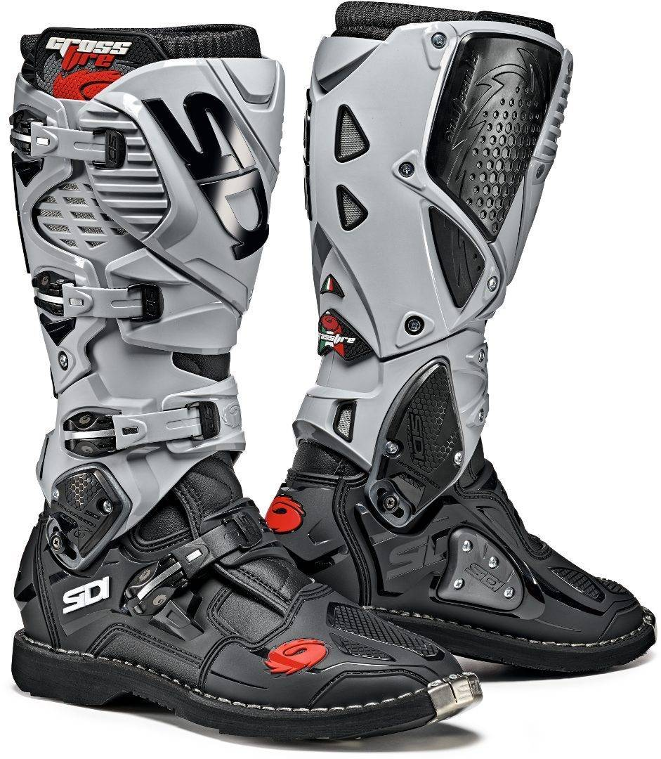 Sidi Crossfire 3 Motocross Boots Black Grey 47