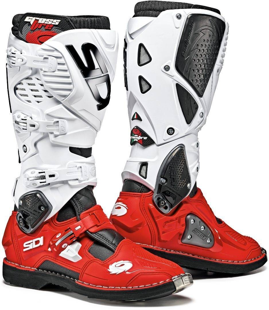 Sidi Crossfire 3 Motocross Boots White Red 42