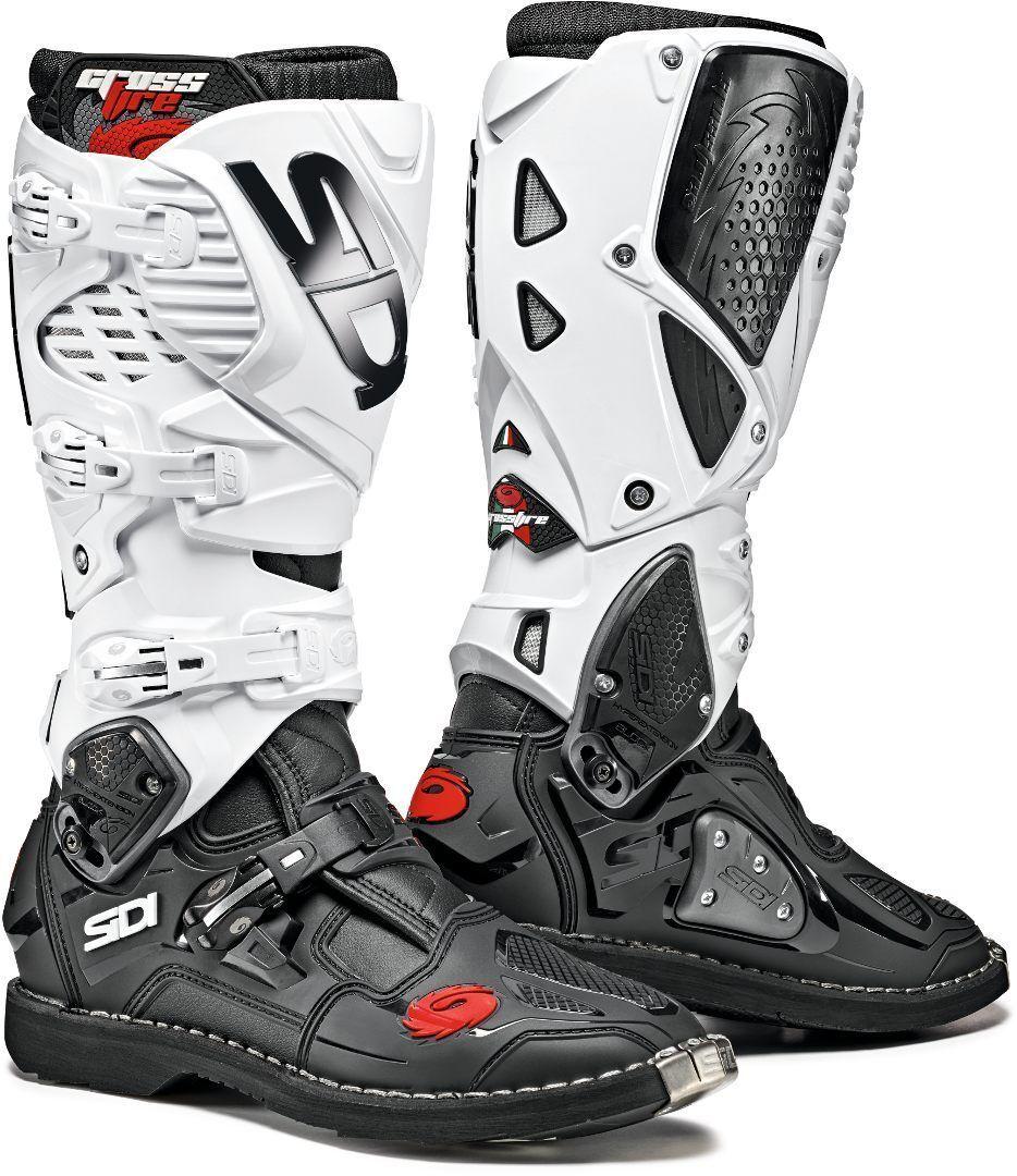 Sidi Crossfire 3 Motocross Boots Black White 40