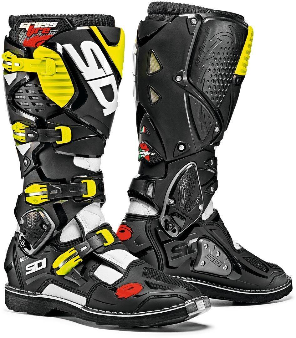 Sidi Crossfire 3 Motocross Boots Black Yellow 47