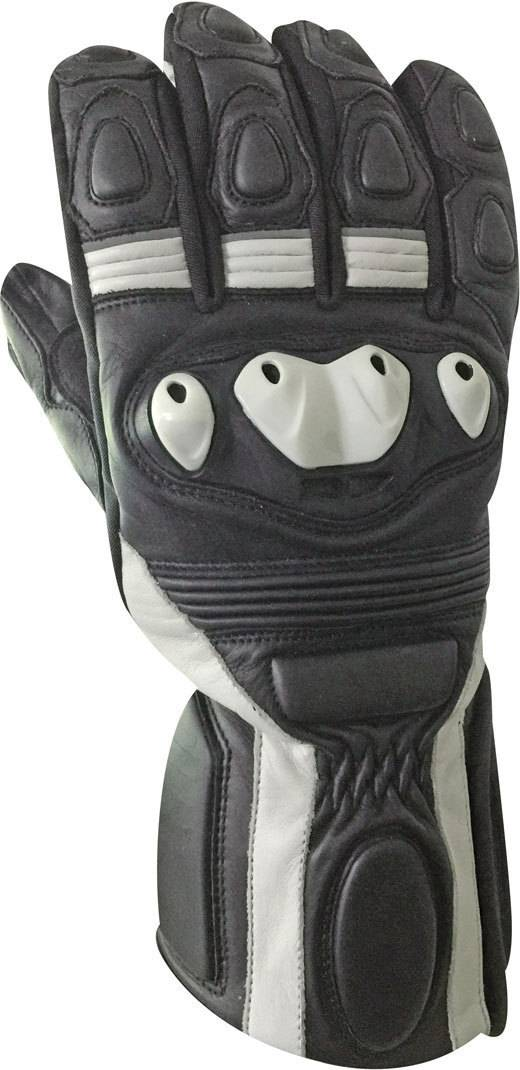 Bores Rider Leather Gloves Black White L