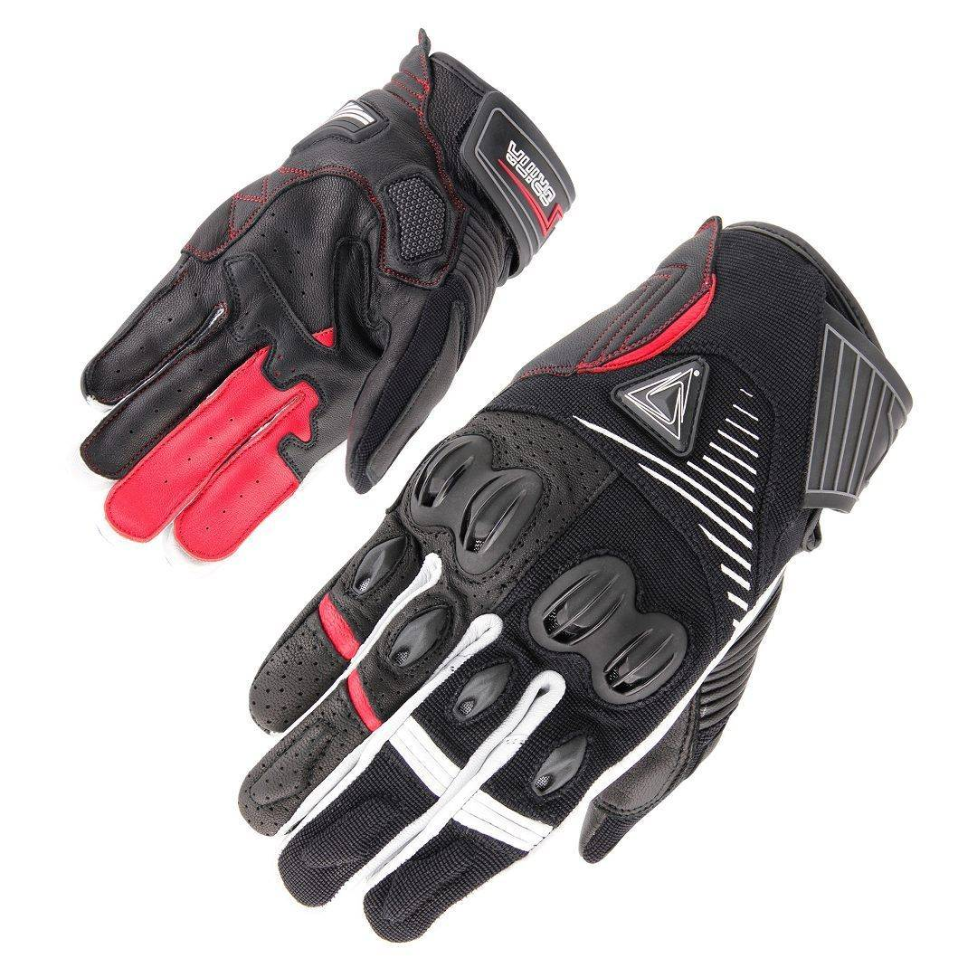 Orina Space Gloves Black White Red 2XL