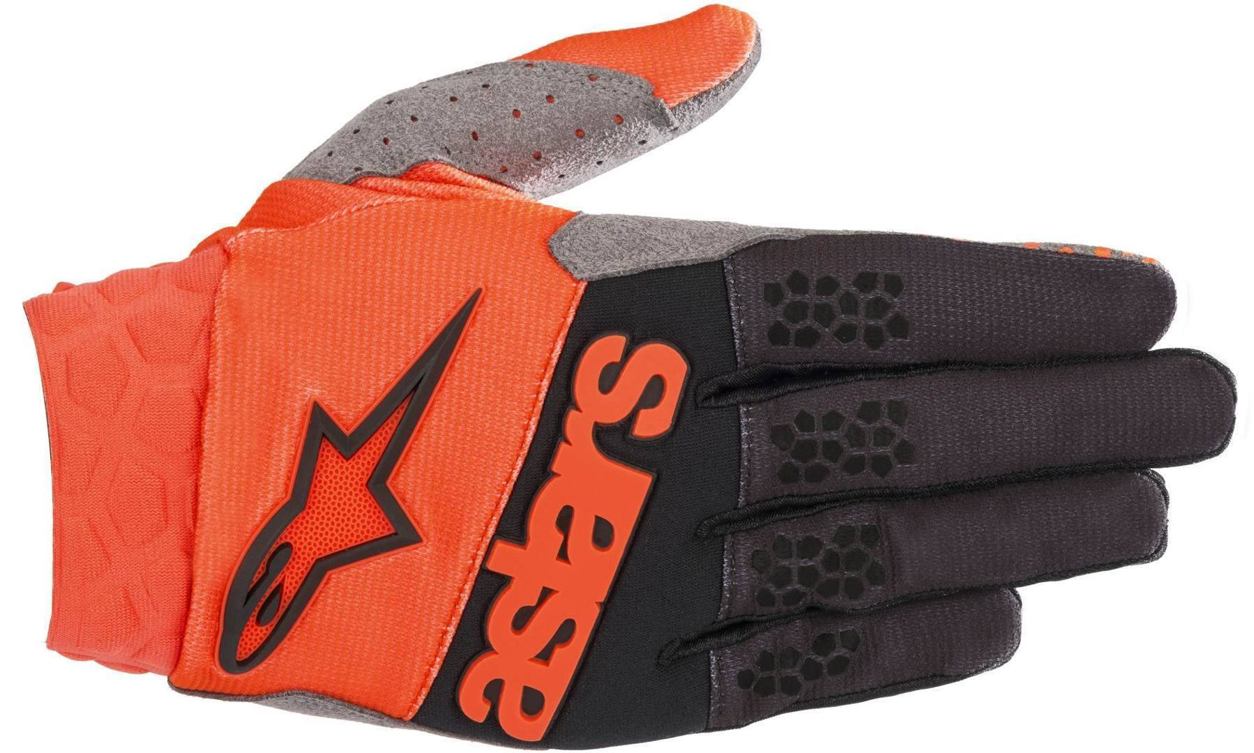 Alpinestars Racefend MX Textile Gloves Black Orange 2XL