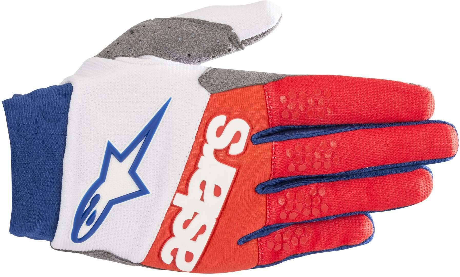 Alpinestars Racefend MX Textile Gloves White Red Blue 2XL