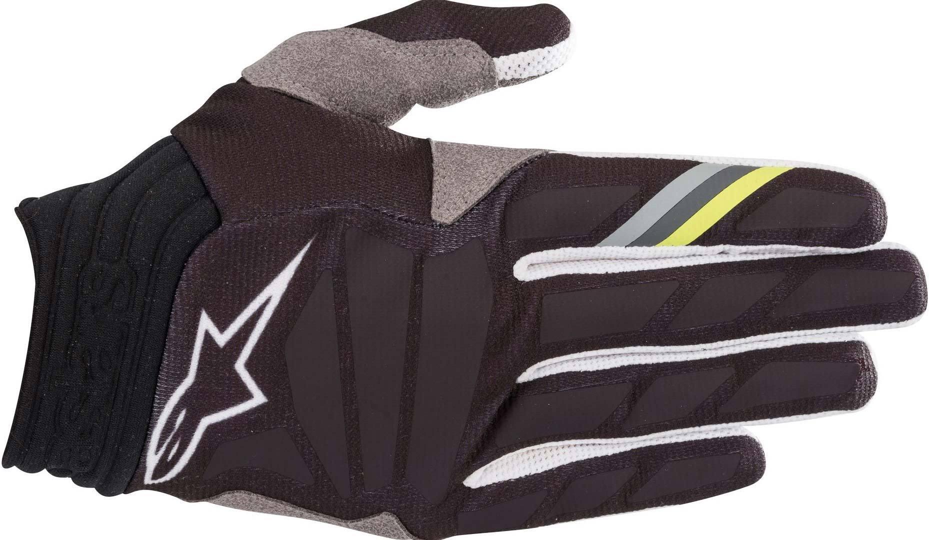 Alpinestars Aviator Motocross Gloves Black Grey S