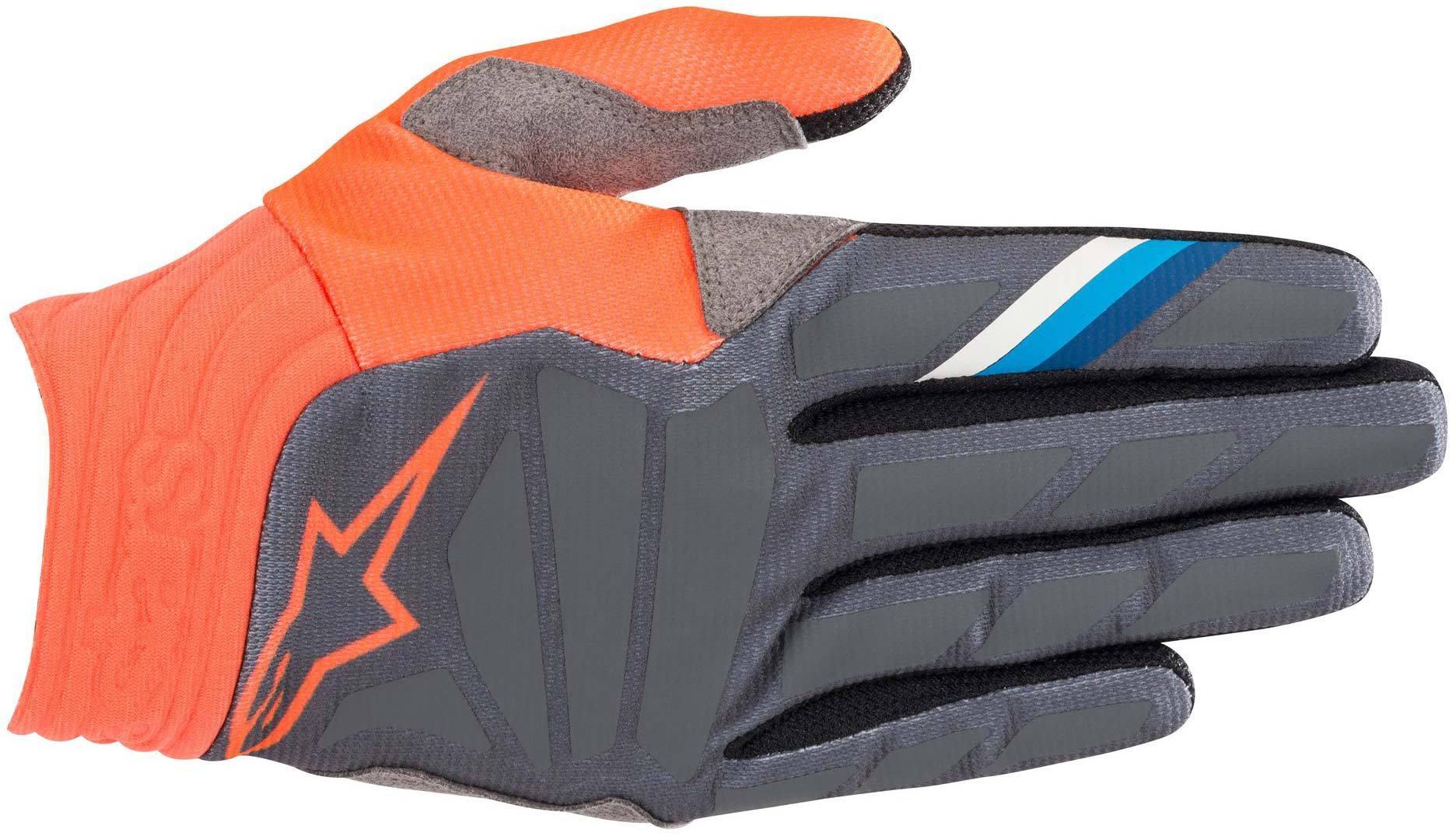 Alpinestars Aviator Motocross Gloves Grey Orange 2XL