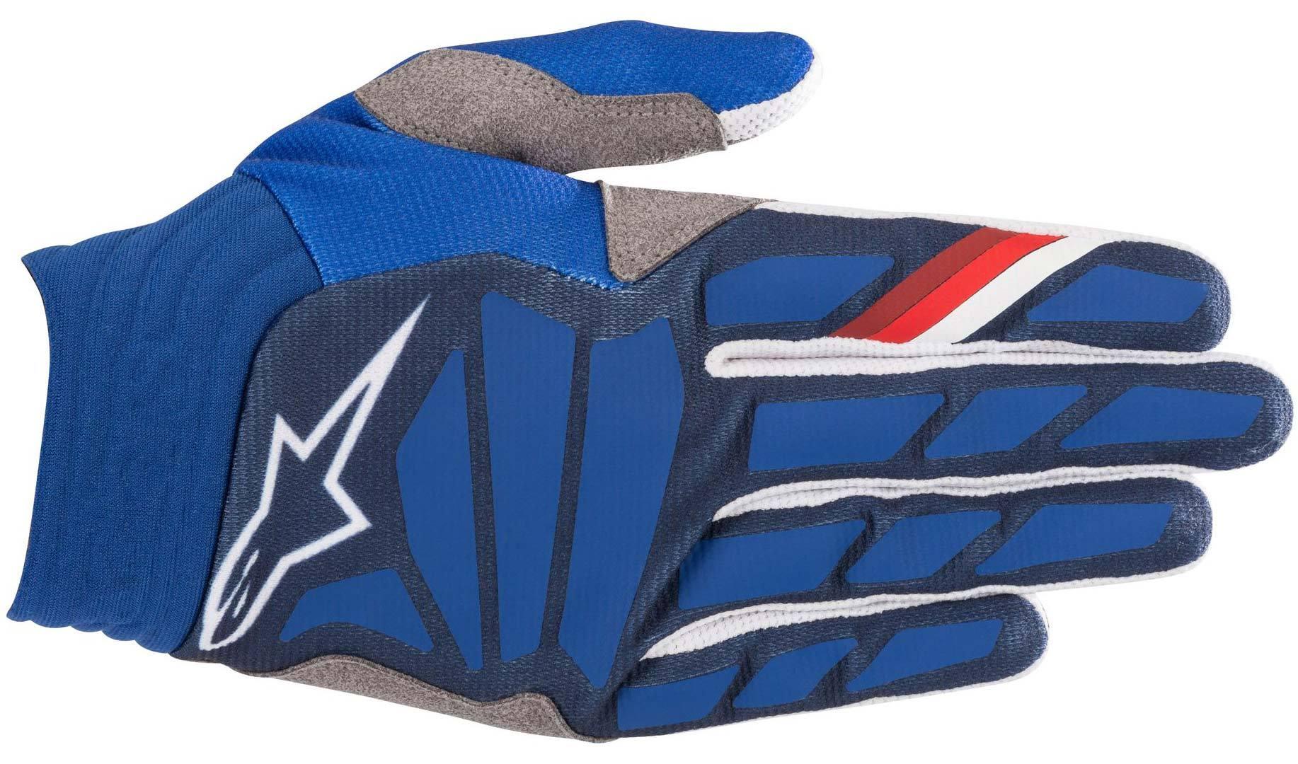 Alpinestars Aviator Motocross Gloves White Blue 2XL