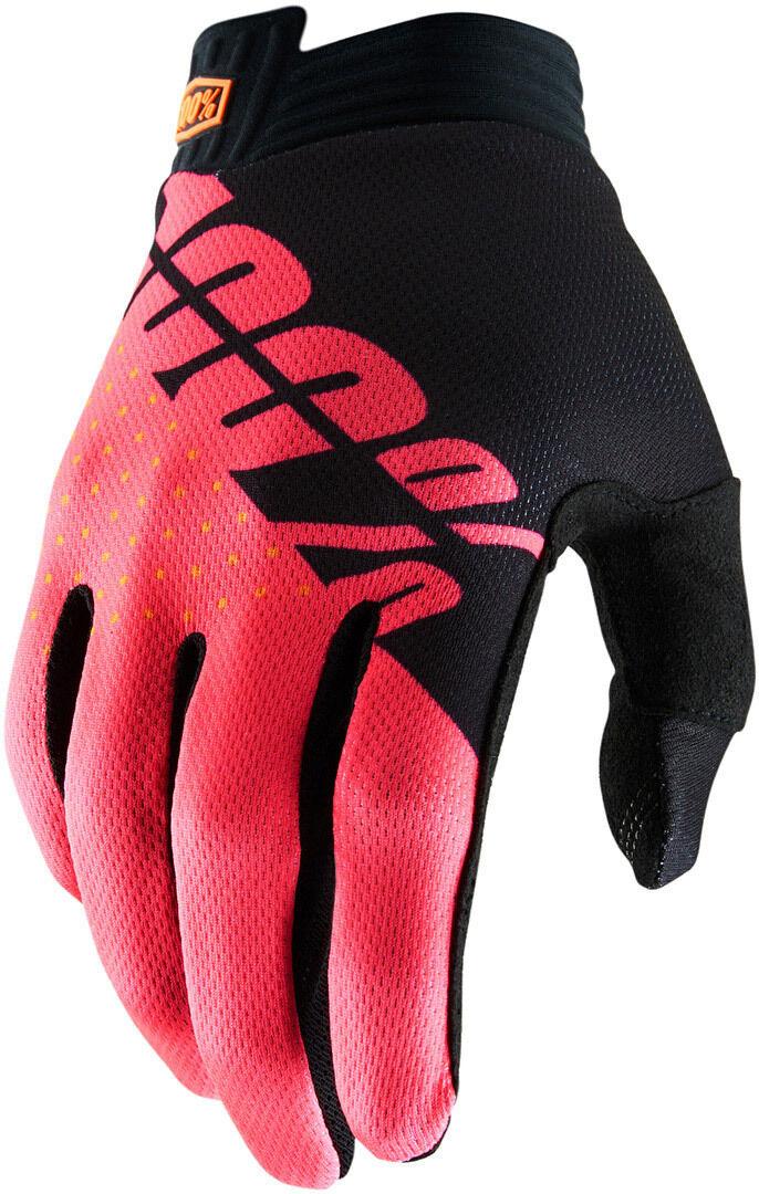 100% Itrack Gloves Black Red M