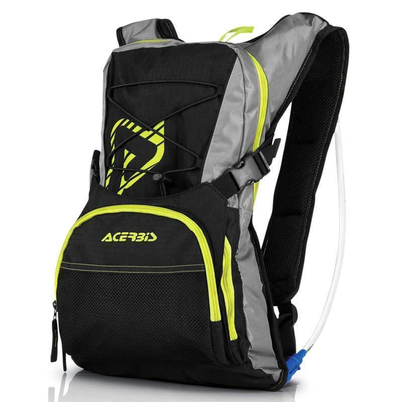 Acerbis H2O Drinking Backpack Black Yellow One Size