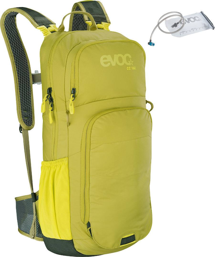 Evoc CC 16L Backpack + 2L Hydration Bladder Green Yellow One Size