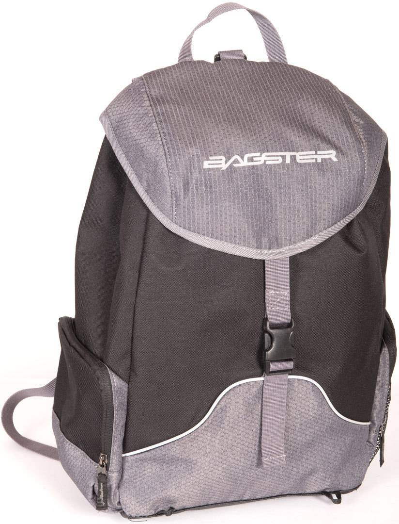 Bagster Block Motorcycle Backpack Black Grey One Size