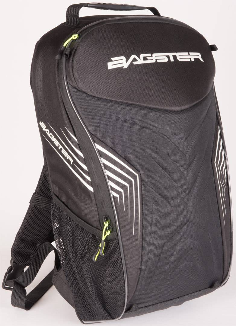 Bagster Rac'r Motorcycle Backpack Black White One Size