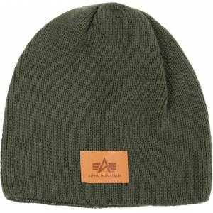 Alpha Industries Knit Beanie Green One Size