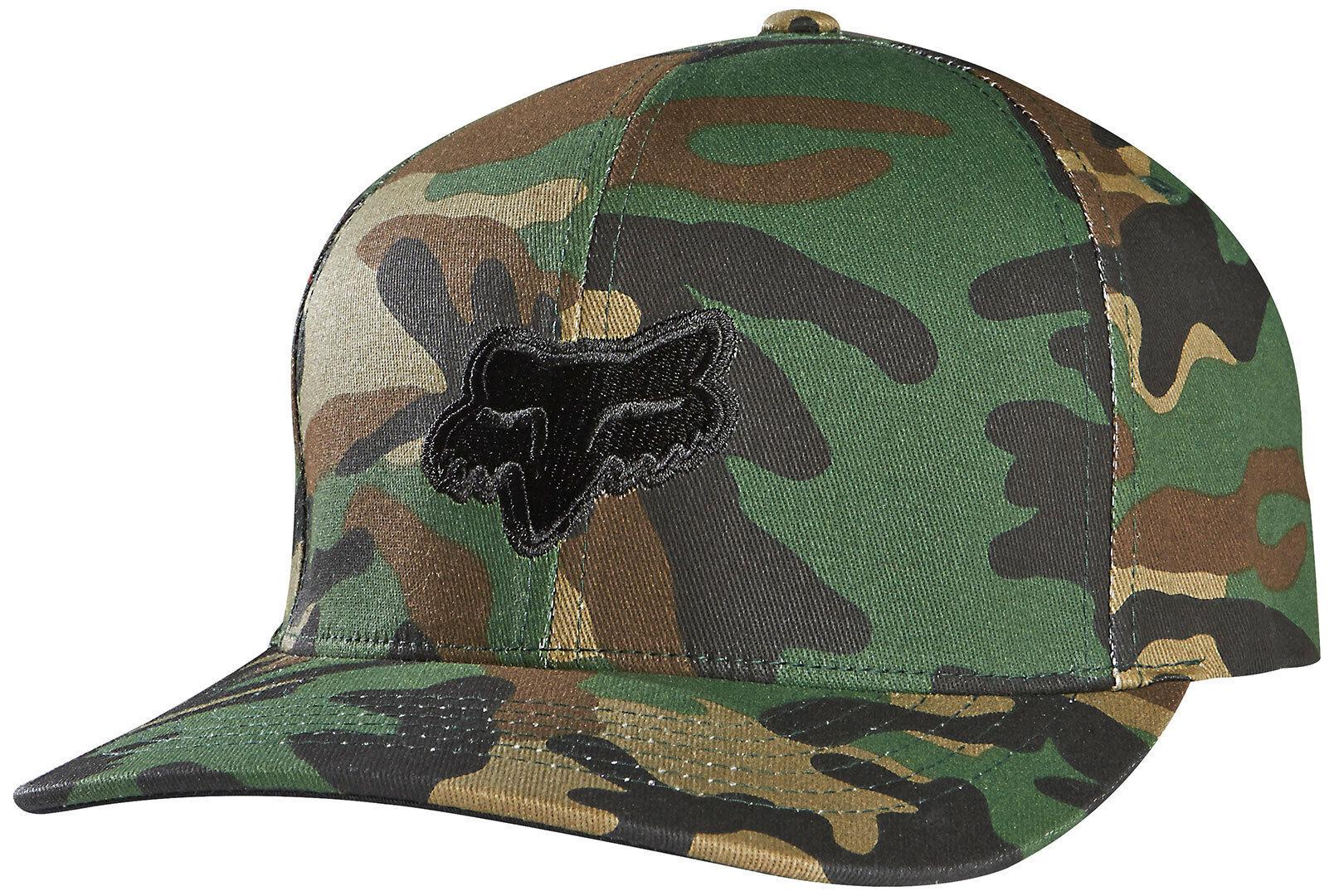 FOX Legacy Flexfit Cap Green Brown 2XL