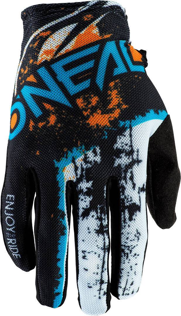 Oneal Matrix Impact Motocross Gloves Black Orange M L