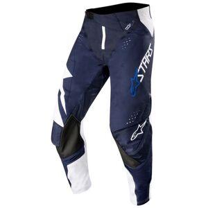 Alpinestars Techstar Factory Motocross Pants White Blue 34
