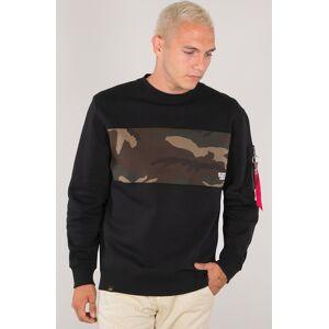 Alpha Industries Camo Bar Sweatshirt Black Multicolored L