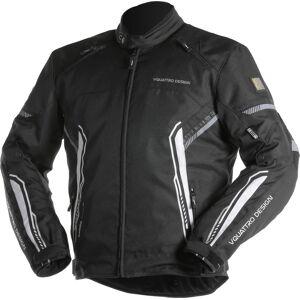VQuattro Bolt Motorcycle Textile Jacket Black White M