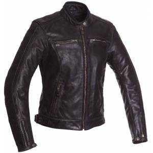 Segura Lady Nygma Women's Motorcycle Leather Jacket Black 44