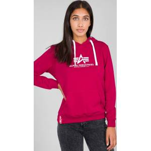 Alpha Industries New Basic Ladies Hoodie Pink XS