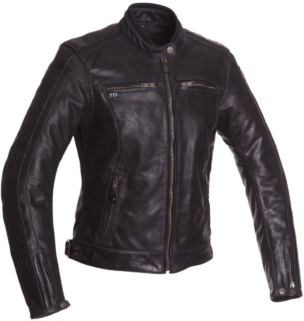 Segura Lady Nygma Women's Motorcycle Leather Jacket Black 38