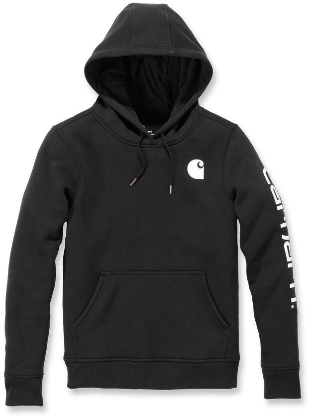 Carhartt Clarksburg Logo Women Hoodie Black XS
