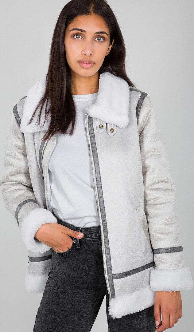 Alpha Industries B3FL Ladies Jacket Grey White XS
