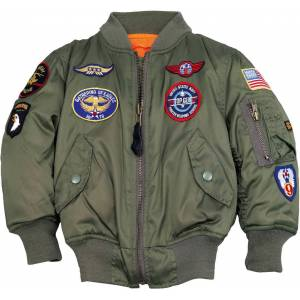 Alpha Industries MA-1 Patch Kids Jacket Green 11 years