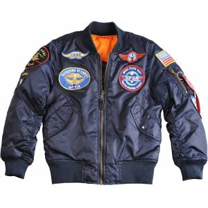 Alpha Industries MA-1 Patch Kids Jacket Blue 9 years