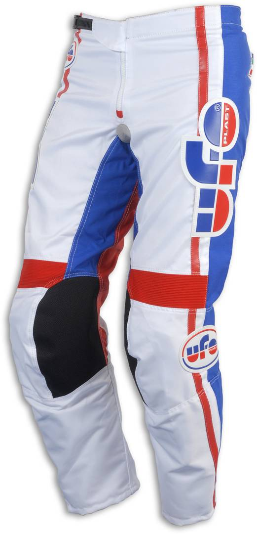 UFO Vintage Made in Italy Motocross Pants White Red Blue 44