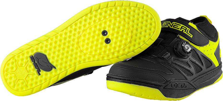 Oneal Session SPD Shoes Black Yellow 44