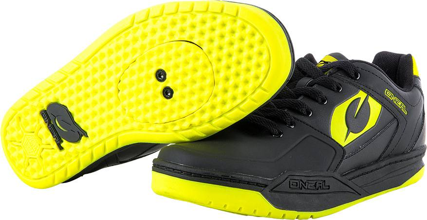 Oneal Pinned SPD Shoes Black Yellow 38