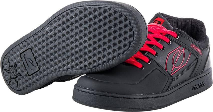 Oneal Pinned Pro Flat Pedal Shoes Red 41