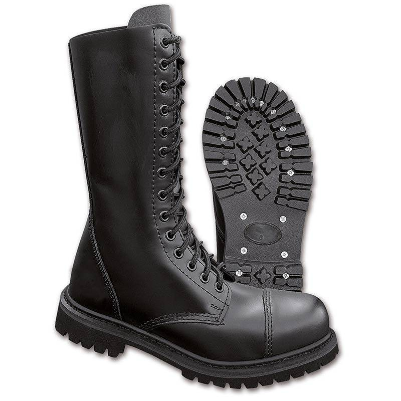 Brandit 14 Eyelet Boots Black 45