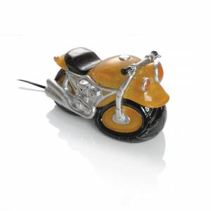 Booster Cast Stone Table Lamp Motorbike Yellow