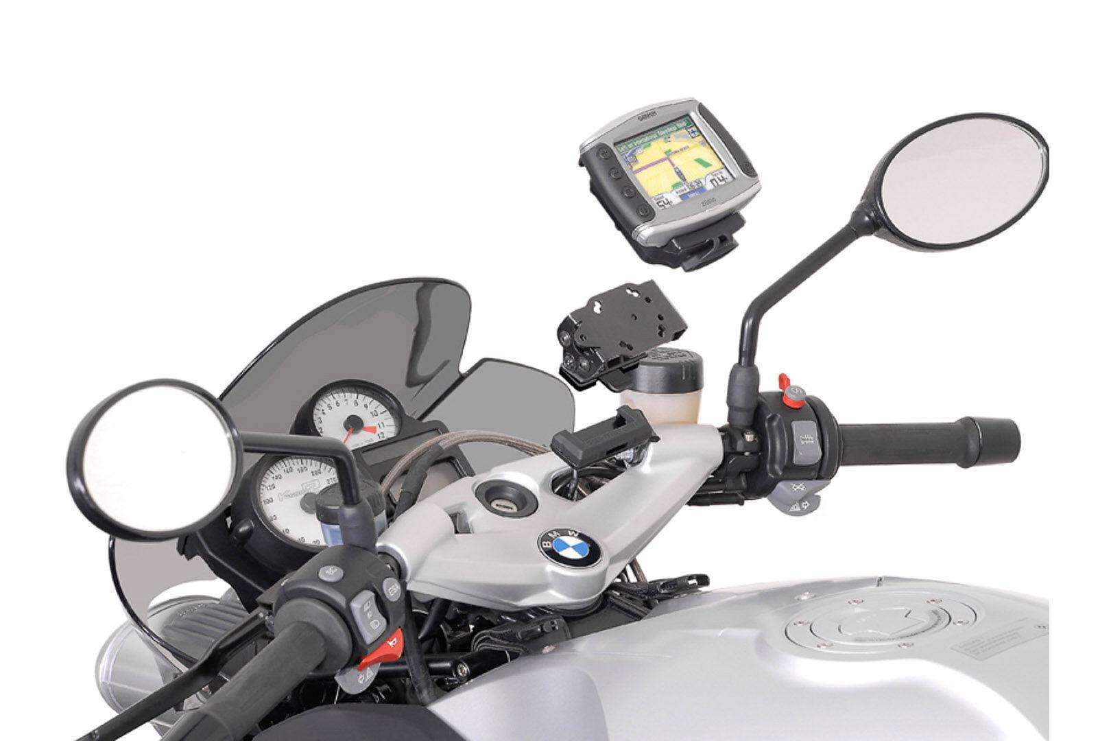 SW-Motech GPS mount for cockpit - Black. Shock absorbent.