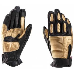 Blauer Banner Motorcycle Gloves Black Gold L