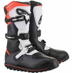 Alpinestars Tech-T Motorcycle Boots Black White Red 48