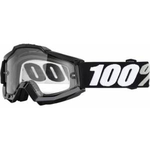 100% Accuri Enduro Tornado Goggles Black White One Size