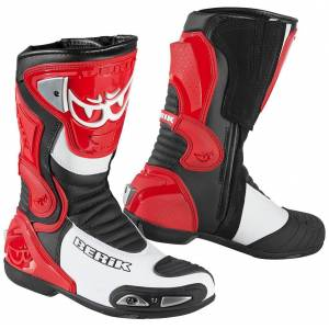 Berik Losail Motorcycle Boots Red 42