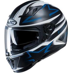 HJC i70 Cravia Helmet Black White Blue XL