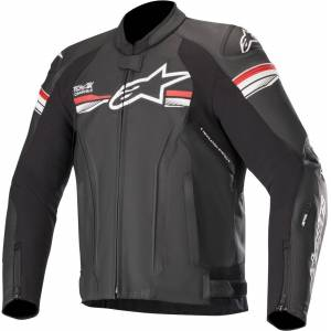 Alpinestars GP-R v2 Tech-Air Motorcycle Leather Jacket Black Red 56