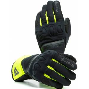 Dainese Nembo Gore-Tex Motorcycle Gloves Black Yellow S