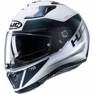 HJC i70 Tas Helmet Black White 2XL